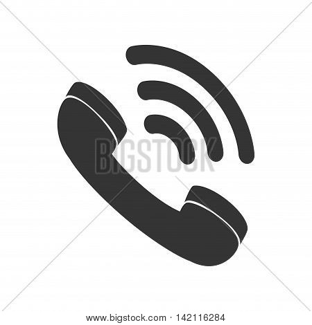 telephone handset talking phone communication line call vector speaker loud graphic isolated and flat illustration