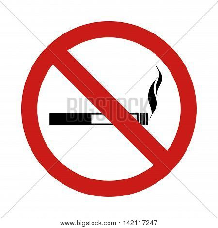 smokinh prohibition cigarrette vape forbidden warning  sign vector graphic isolated illustration