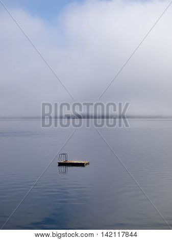 Diving Dock on Placid Water in Sunshine