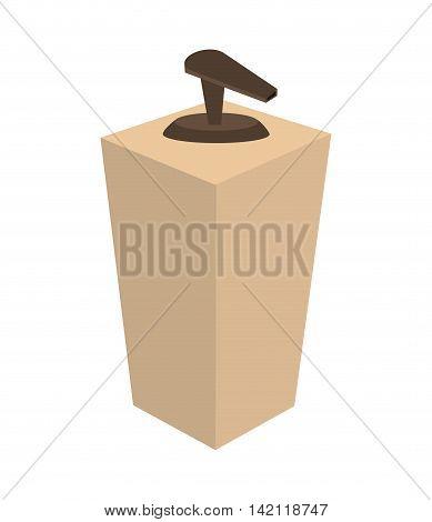 flat design cosmetic product dispenser icon vector illustration
