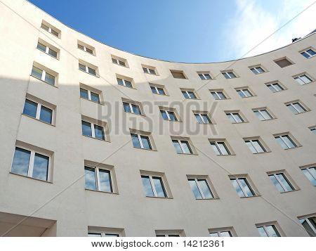 Semicircular Facade Of A Modern Building