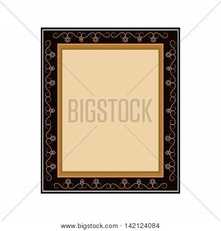 flat design artistic frame icon vector illustration