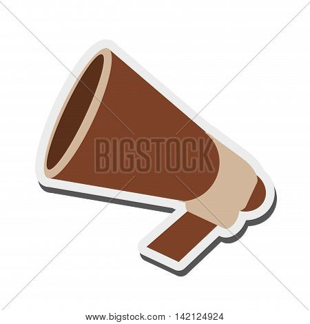 flat design retro megaphone icon vector illustration