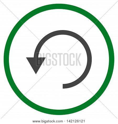 Rotate Ccw vector icon. Style is bicolor flat rounded iconic symbol, rotate ccw icon is drawn with green and gray colors on a white background.