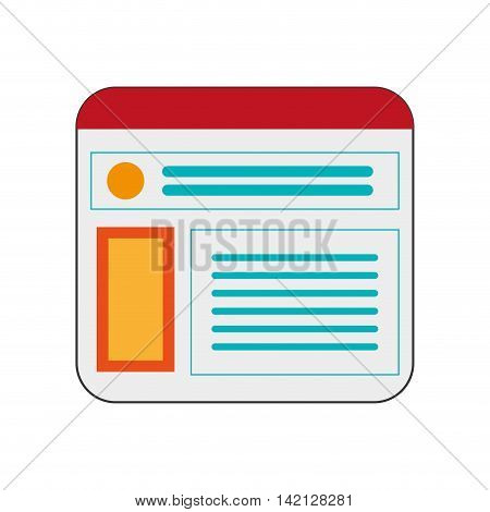 flat design single webpage icon vector illustration