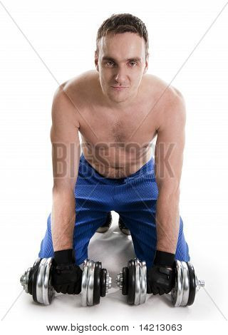 Man Lifting Dumbbells.