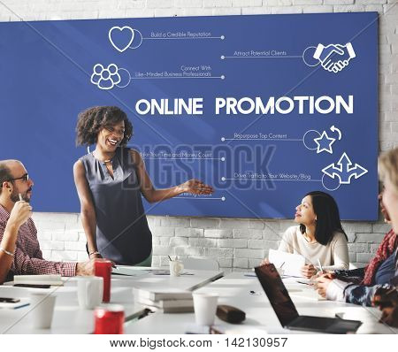 Online Promotion Technology Meeting Concept