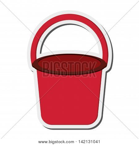 flat design single bucket icon vector illustration