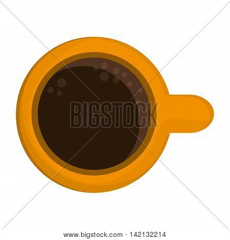 flat design coffee cup icon vector illustration