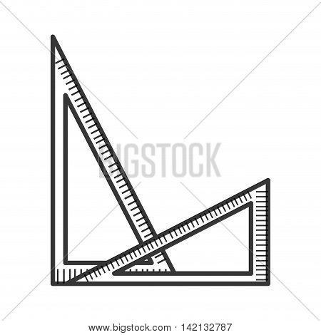 flat design set squares icon vector illustration