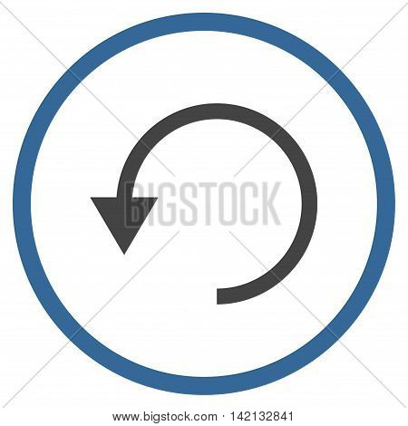 Rotate Ccw vector icon. Style is bicolor flat rounded iconic symbol, rotate ccw icon is drawn with cobalt and gray colors on a white background.