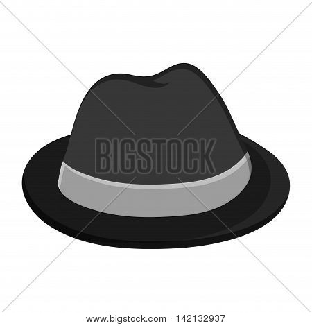 flat design single hat icon vector illustration