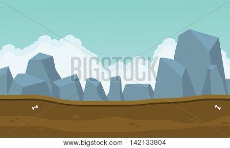 Backgrounds game many big rock vetor art illustration