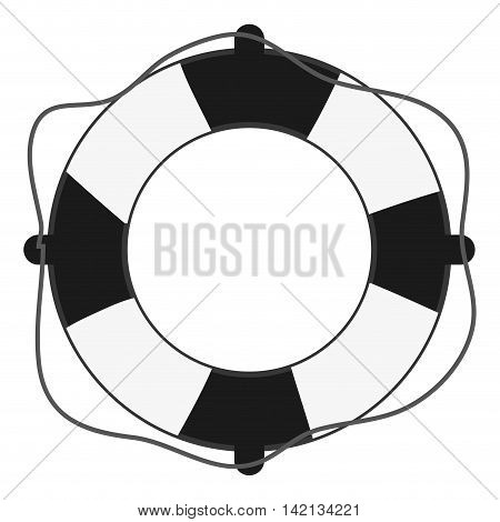 flat design life preserver icon vector illustration