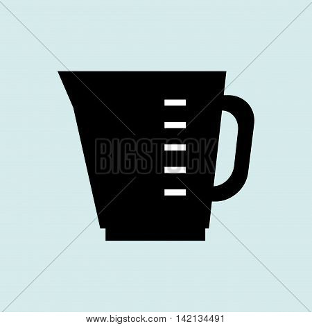 glass cup container water measure vector illustration graphic