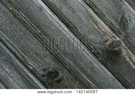 Diagonal wooden planks texture with signs of weathering