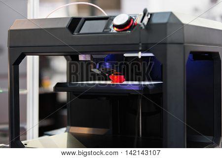 3d printing in progress, color image, horizontal image