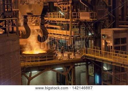 Melting scrap for the production of billets at factory