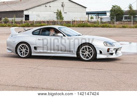 Custom Light Gray Metallic Toyota Supra Sz Car