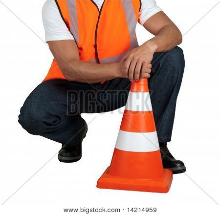 Road Worker Closeup