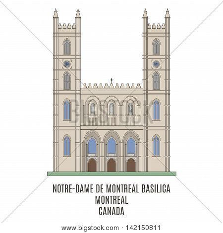 Notre-Dame Basilica Old Montreal Quebec Canada. Famouse place