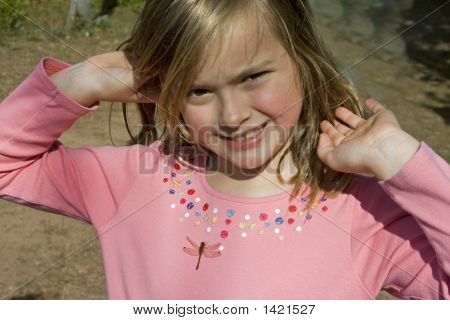 Young Girl With Dragonfly