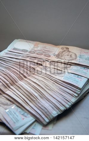 1000 Baht, money in Thailand, one thousand