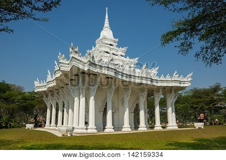 Buddhist temple in Samut Prakan province Thailand