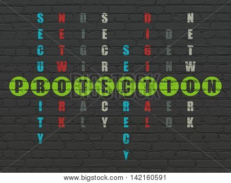 Safety concept: Painted green word Protection in solving Crossword Puzzle