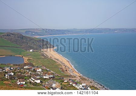 looking down on Beesands and the South Devon coast