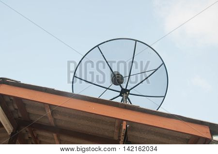 satellite dish on the roof at Thailand
