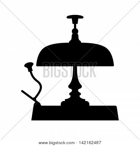 Reception bell ( shade picture ) on white