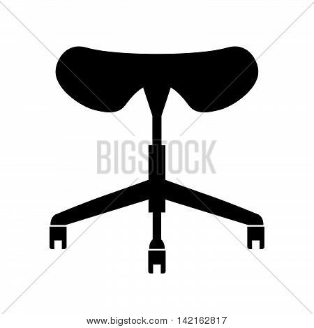 Saddle seat ( shade picture ) on white