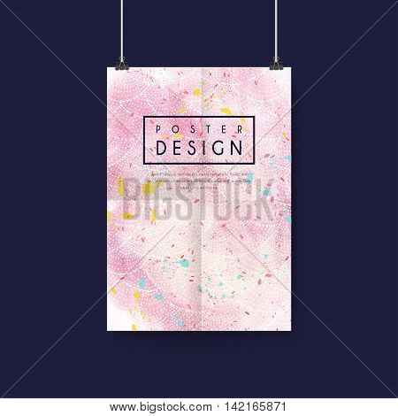 Adorable Pink Poster Template Design