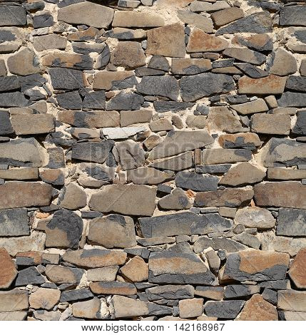 Ancient stone wall seamless pattern - repetitive textures