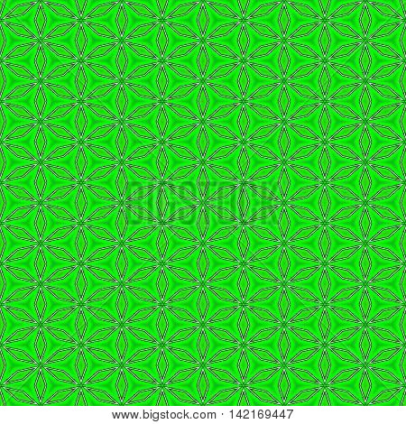 Neon green seamless beautiful and unique pattern