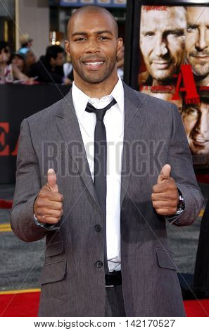 Omari Hardwick at the Los Angeles premiere of 'The A-Team' held at the Grauman's Chinese Theater in Hollywood, USA on June 3, 2010.