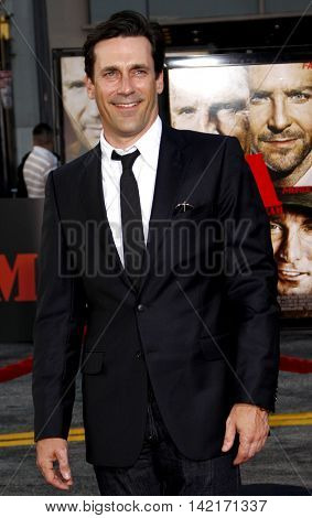 Jon Hamm at the Los Angeles premiere of 'The A-Team' held at the Grauman's Chinese Theater in Hollywood, USA on June 3, 2010.