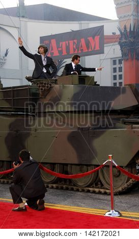Bradley Cooper and Sharlto Copley at the World premiere of