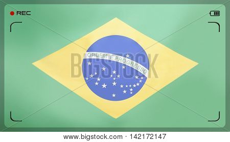 Full-frame shot of Brazilian flag