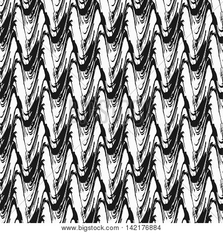 abstract monochrome vintage seamless pattern on a black background