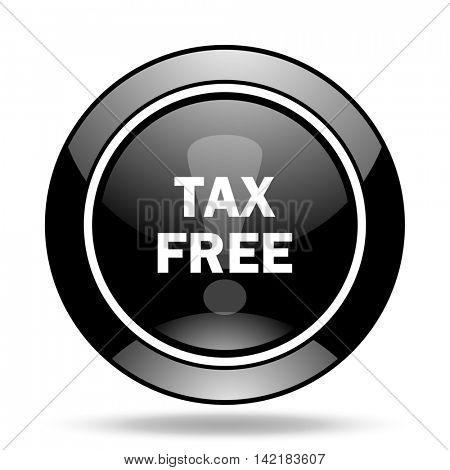 tax free black glossy icon