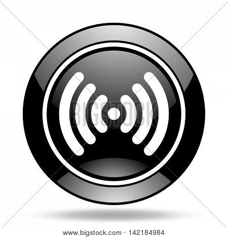 wifi black glossy icon
