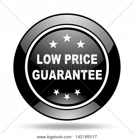 low price guarantee black glossy icon