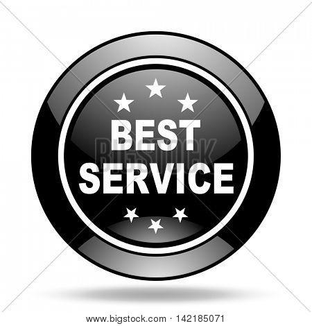 best service black glossy icon