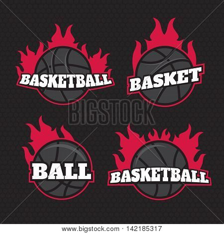 Professional logo for basketball game. Basketball logo templates set. Basketball logotypes sign symbol badge