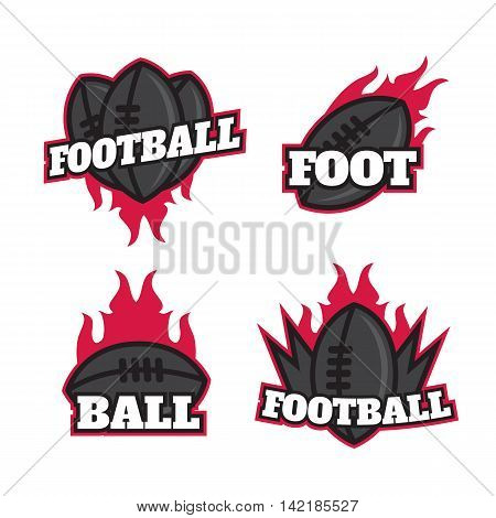 Set of colorful college american football logo labels. American football logotypes sign symbol badge