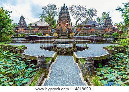 Lotus Temple With Pond, Ubud, Bali