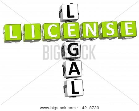 Legal License Crossword