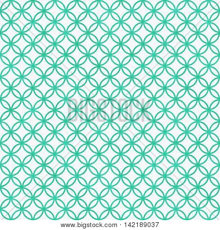Teal and White Circles Tile Pattern Repeat Background that is seamless and repeats